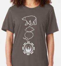 Camiseta ajustada Osos. Beats. Battlestar Galactica