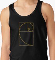 Golden Ratio Sacred Fibonacci Spiral Tank Top
