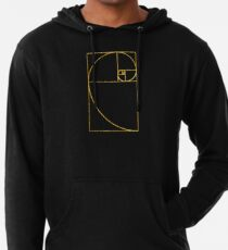 Goldene Verhältnis heilige Fibonacci Spirale Leichter Hoodie