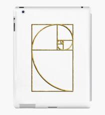 Golden Ratio Sacred Fibonacci Spiral iPad Case/Skin
