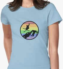 skiing 1 Womens Fitted T-Shirt
