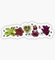 Insectivorous plants - array Sticker