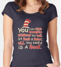 You Can Find Magic in Book Women's Fitted Scoop T-Shirt