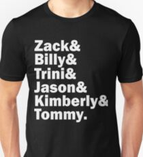 Zack, Trini, Billy, Jason, Kimberly and Tommy Unisex T-Shirt