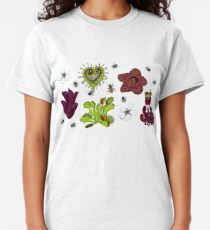 Insectivorous plants - scattered Classic T-Shirt