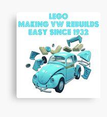 Lego VW Beetle Rebuild Canvas Print