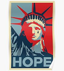 Crying Statue of Liberty Poster
