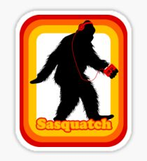 Retro Sasquatch Sticker
