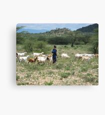 Samburu farmer Canvas Print
