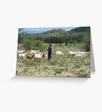 Samburu farmer Greeting Card