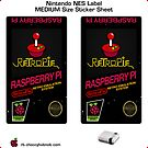 NES Custom Cart Label - Carbon [Get the MEDIUM size] by ChoccyHobNob