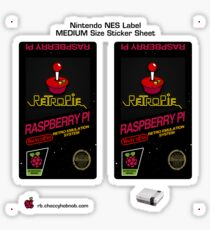 NES Custom Cart Label - Carbon [Get the MEDIUM size] Sticker