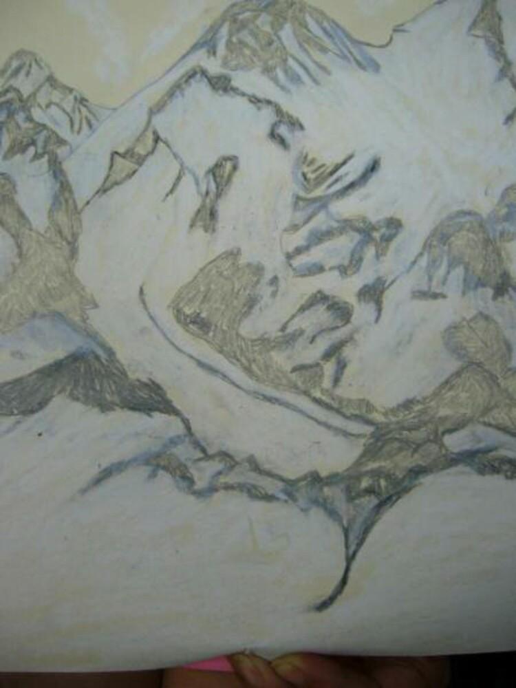 MT.everest drawing by oilersfan11