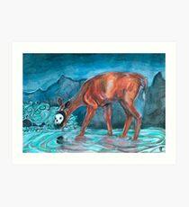 deathshead doe Art Print