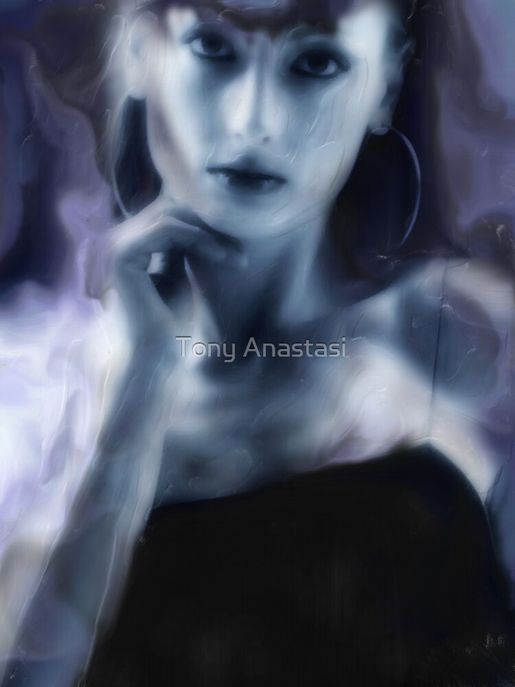 abstract blue wash by Tony Anastasi