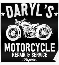 Daryl's Motorcycle Repair & Service Poster
