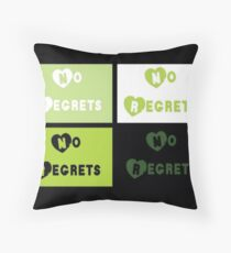 No Regrets Throw Pillow