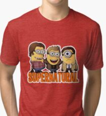 Funny Supernatural Minions  Tri-blend T-Shirt