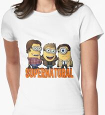 Funny Supernatural Minions  Women's Fitted T-Shirt
