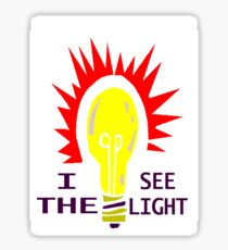 I SEE THE LIGHT Sticker