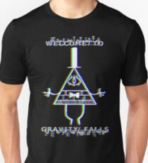 Bill Cipher - Welcome to Gravity Falls - Anaglyph Unisex T-Shirt