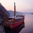A Tour Boat on the Imjin River Which Flows Out of North Korea by koreanrooftop