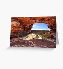 Peaking Through Natures Window  Greeting Card