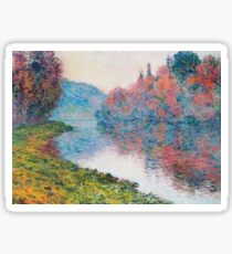 Claude Monet - Banks Of The Seine At Jenfosse Clear Weather Sticker