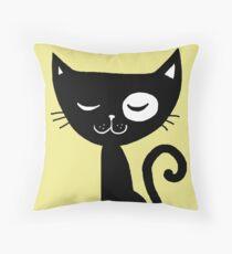 Katze! Throw Pillow