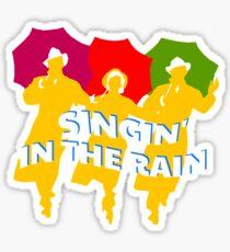 Singin' In The Rain Sillhouette Sticker