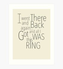 There and Back Art Print