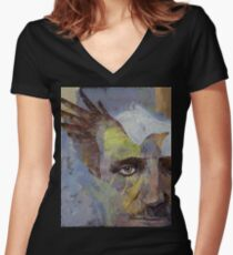 Poe Women's Fitted V-Neck T-Shirt