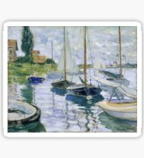Claude Monet - Boats At Rest At Petit Gennevilliers Sticker