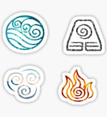 Pegatina Avatar the Last Airbender Element Symbols