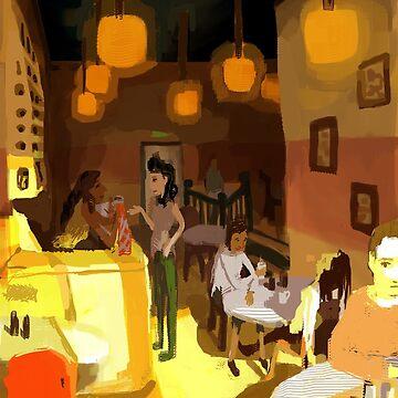 """Saints & Sinners Alike"" Coffee Shop by Eireni"