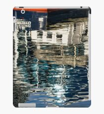 Capricious Liquid Abstracts - Cool Blues and Whites with a Touch of Red iPad Case/Skin