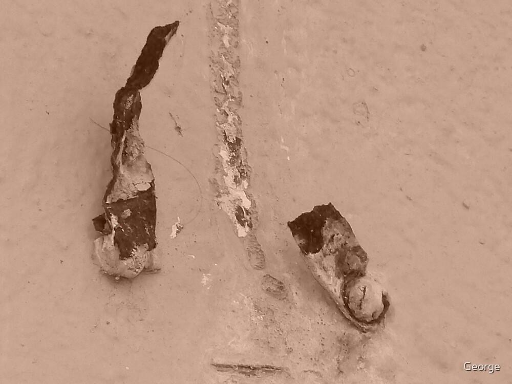 old broken rustic hook by George