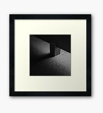 Light and shadow abstract Framed Print