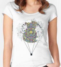 Mayan zodiac circle teeshirt Women's Fitted Scoop T-Shirt