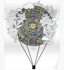 Mayan zodiac circle teeshirt Poster