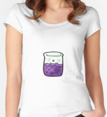 cartoon chemicals Women's Fitted Scoop T-Shirt