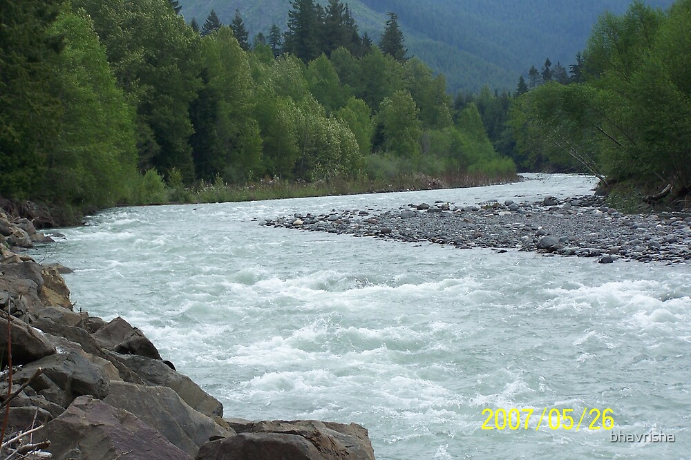 Rapids in the river by bhavrisha