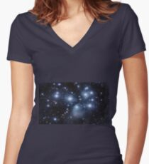 Pleiades (M45) Women's Fitted V-Neck T-Shirt