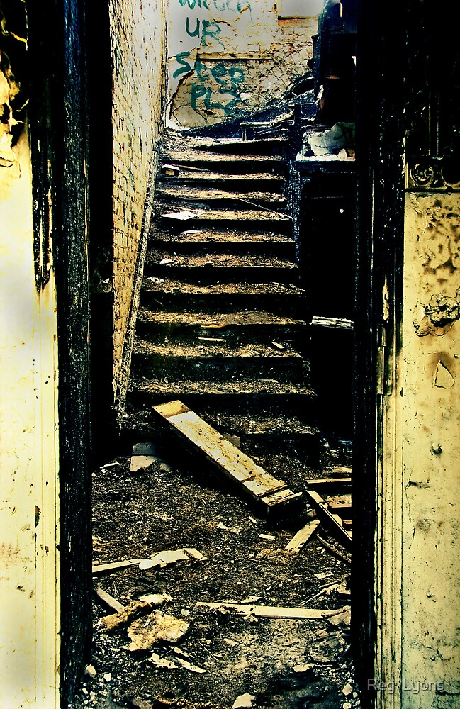 The Ritz Flats - The Elevator Out of Order - Please use the Stairs. by Reg  Lyons