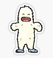 cartoon yeti Sticker