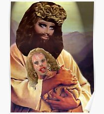 Drag Jesus Trixie with a Katya Lamb Poster