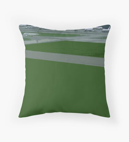 airport green Throw Pillow