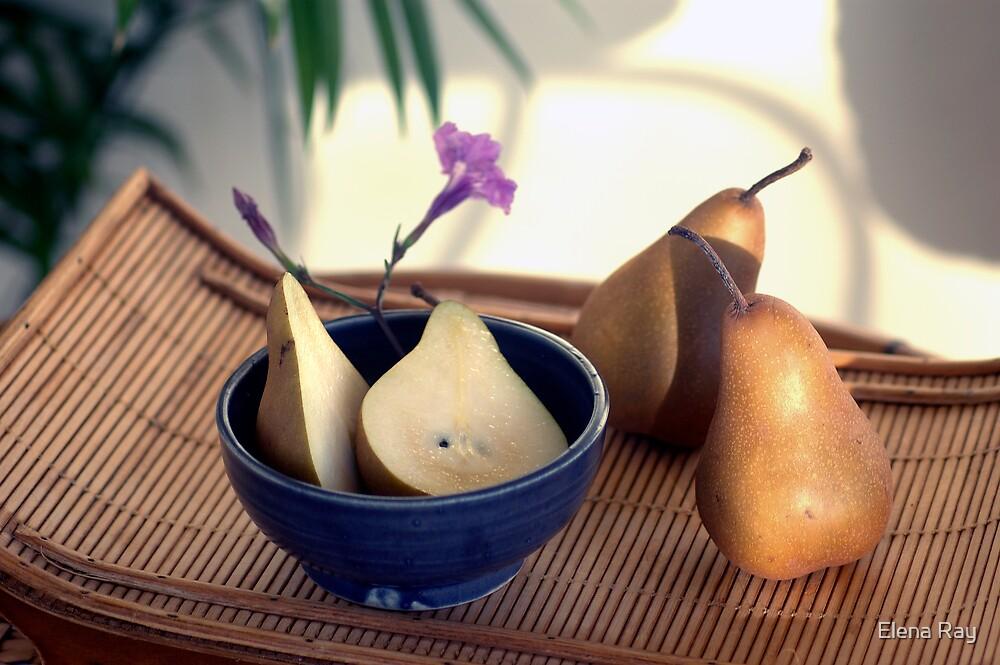 Morning Pears by Elena Ray