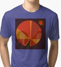 Orange Mod Pod Design Tri-blend T-Shirt