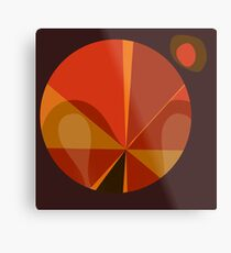 Orange Mod Pod Design Metal Print